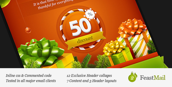 ThemeForest FeastMail 2 Christmas Email Template 860078