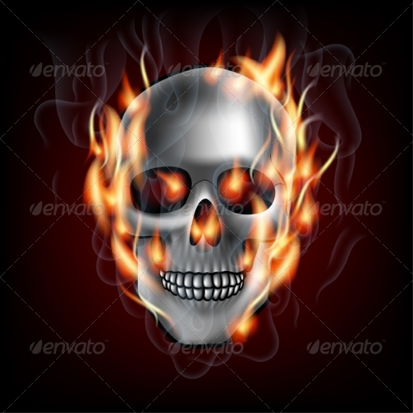 GraphicRiver Skull on Fire 8463902