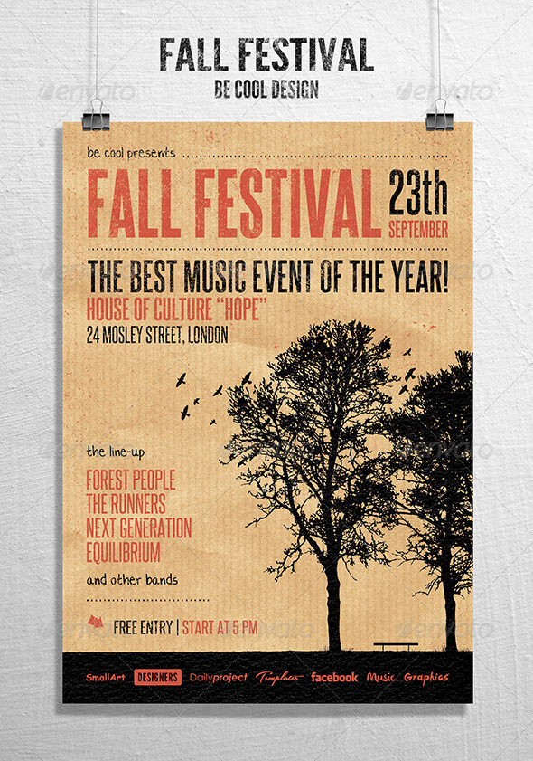 GraphicRiver Fall Festival Flyer Poster 8463947