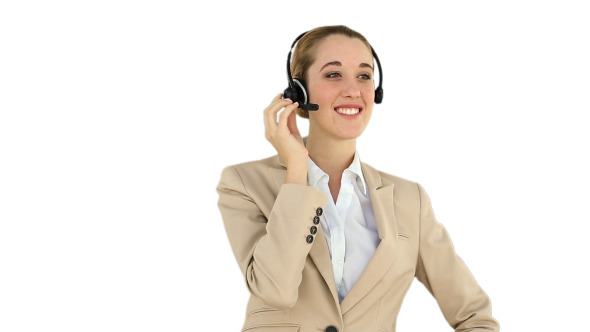 Call Centre Agent Talking On The Headset