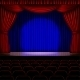Stage with Red Curtain - GraphicRiver Item for Sale