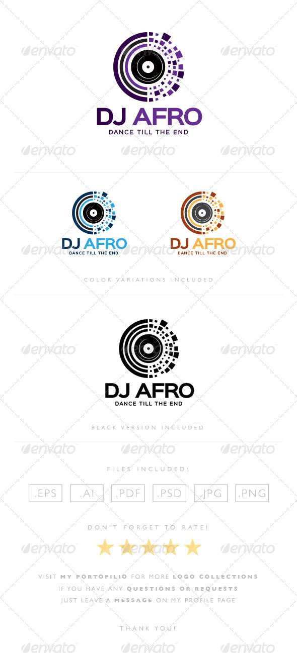 GraphicRiver DJ Afro Logo 8464500