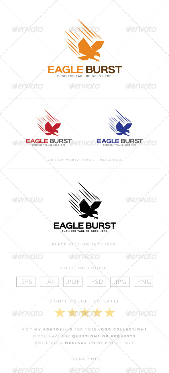 GraphicRiver Eagle Burst Logo 8464573