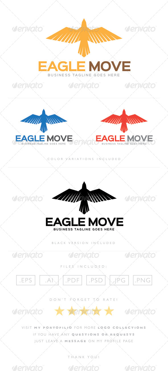 GraphicRiver Eagle Move Logo 8464592