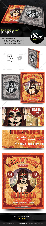 GraphicRiver Indie Rock Concert Event Flyer 8437165