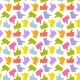 Seamless Pattern. Colorful Thumb Up Icon. - GraphicRiver Item for Sale