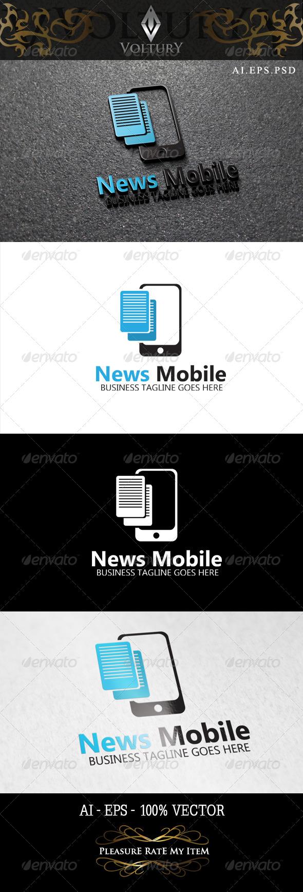 GraphicRiver News Mobile Logo 8465060