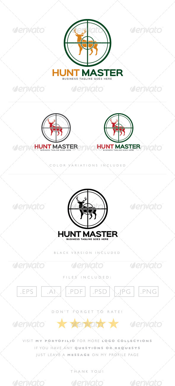 GraphicRiver Hunt Master Logo 8465094