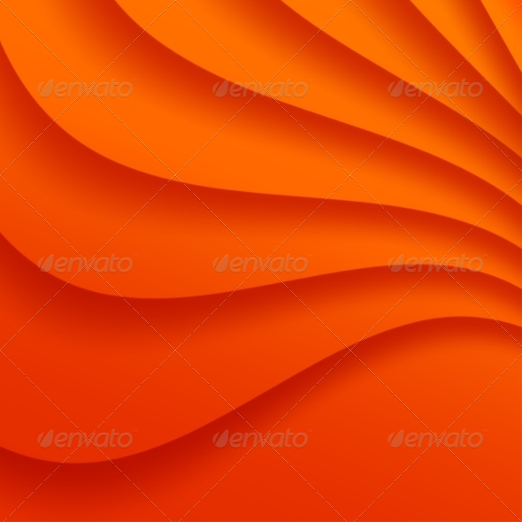 GraphicRiver Orange Wavy Background 8465147