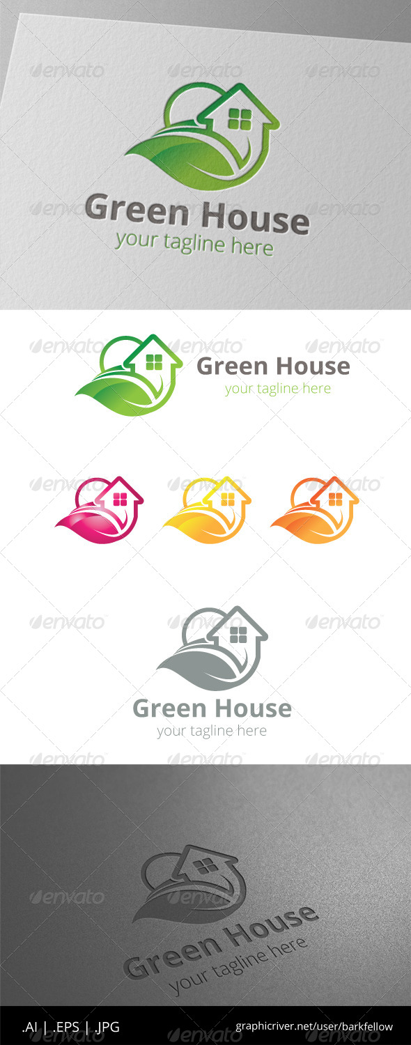 GraphicRiver Green House Home Property Logo 8465207