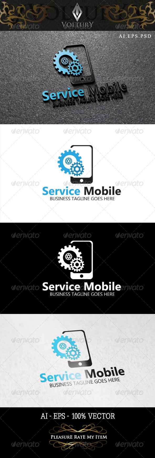 GraphicRiver Service Mobile Logo 8465231