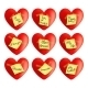 Set of Vector Hearts with Inscriptions - GraphicRiver Item for Sale
