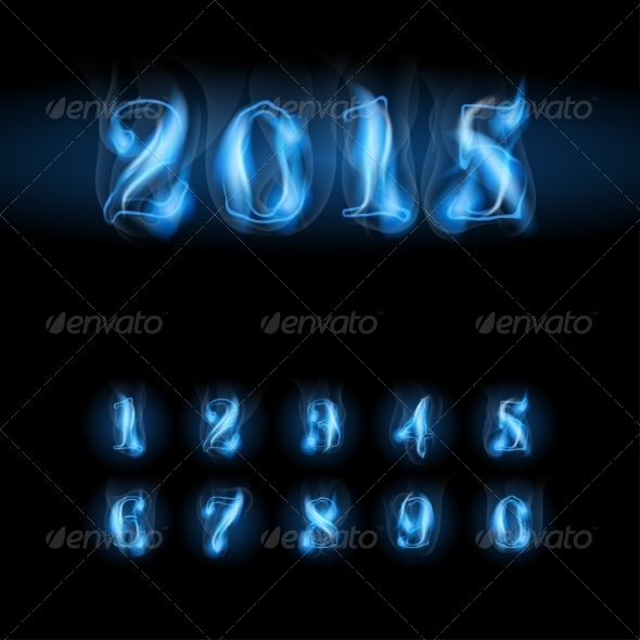 GraphicRiver Blue Fire Numbers 8465261