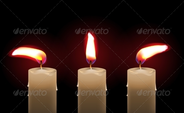 GraphicRiver Burning Candle 8465289