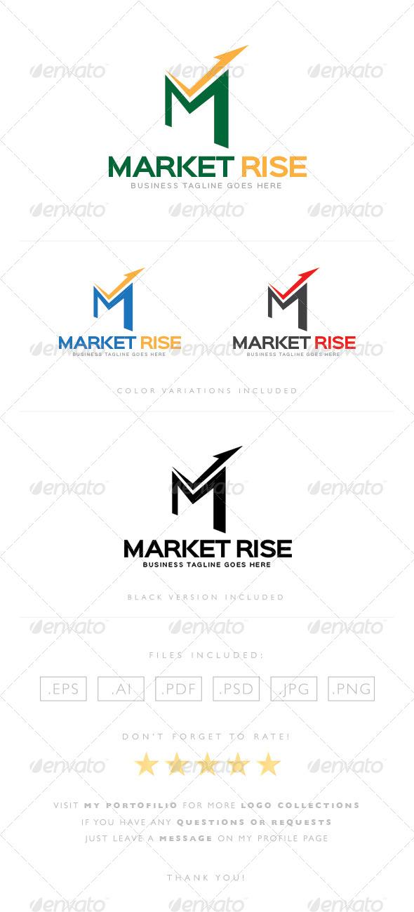GraphicRiver Market Rise Logo 8465291