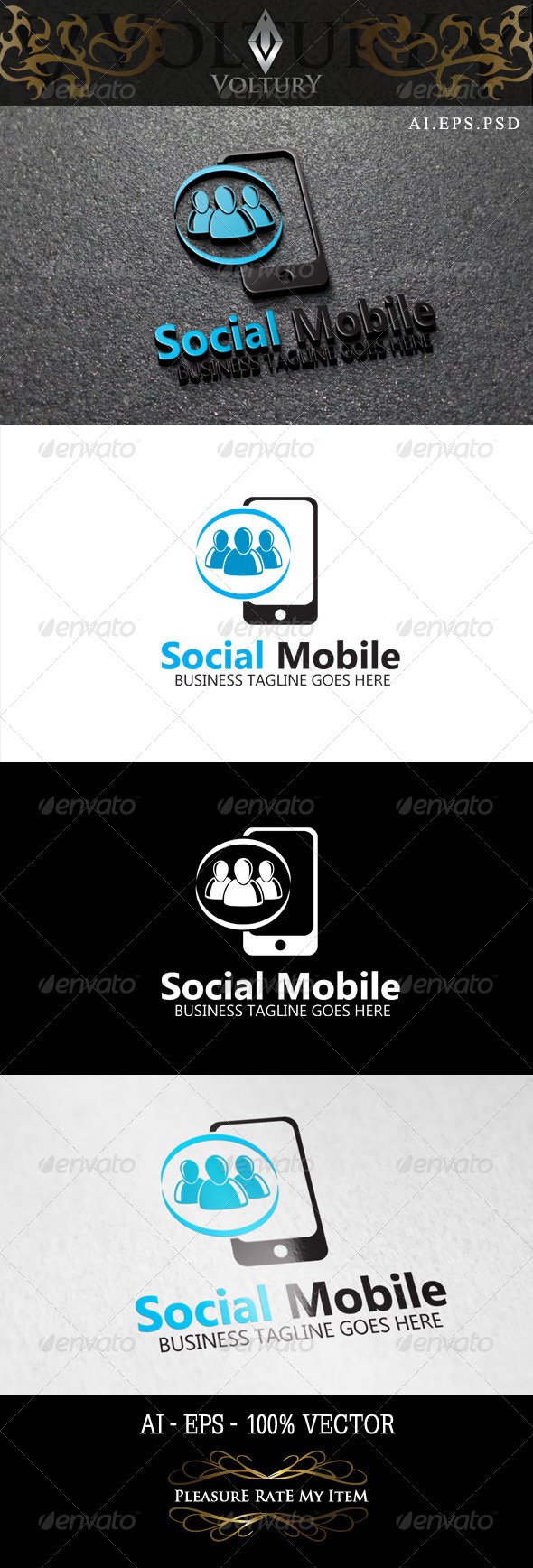 GraphicRiver Social Mobile Logo 8465336