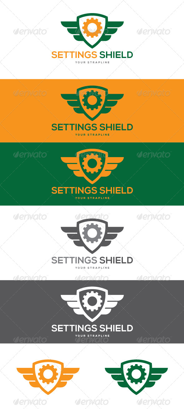 GraphicRiver Settings Shield Logo 8465337