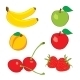 Colorful Fruits in Hand Drawn Sketch - GraphicRiver Item for Sale