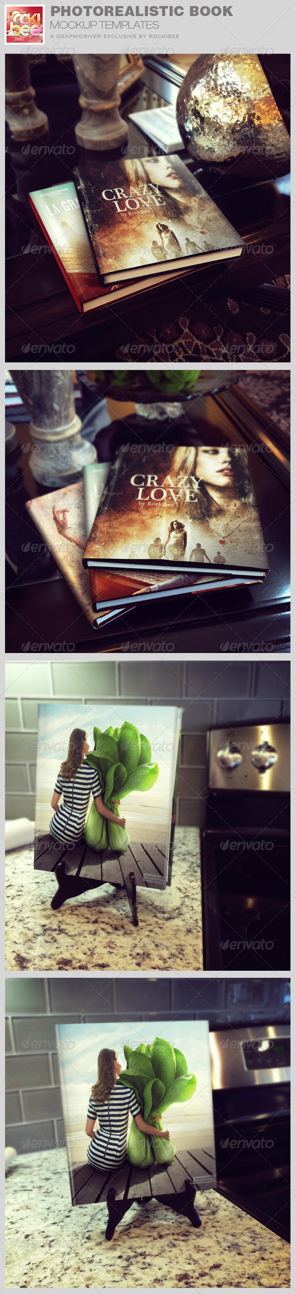 GraphicRiver Photorealistic Book Mockup Templates 8465403