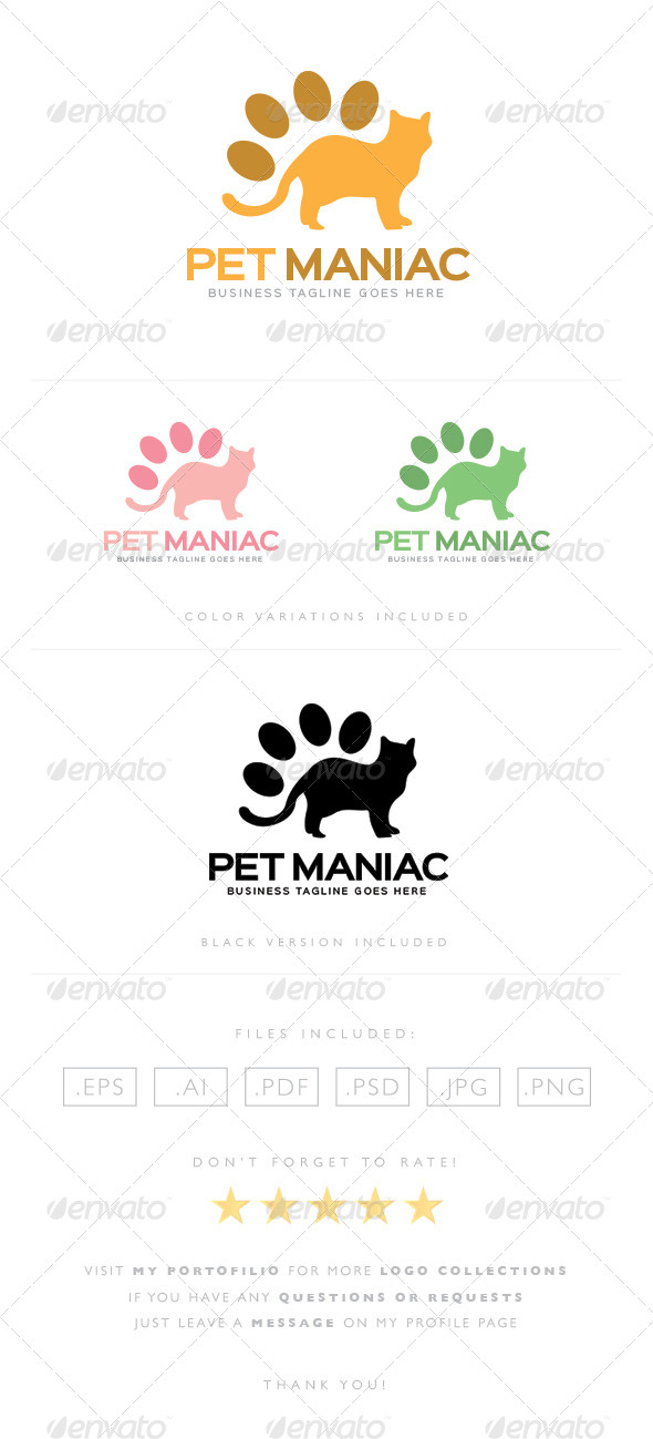 GraphicRiver Pet Maniac Logo 8465406