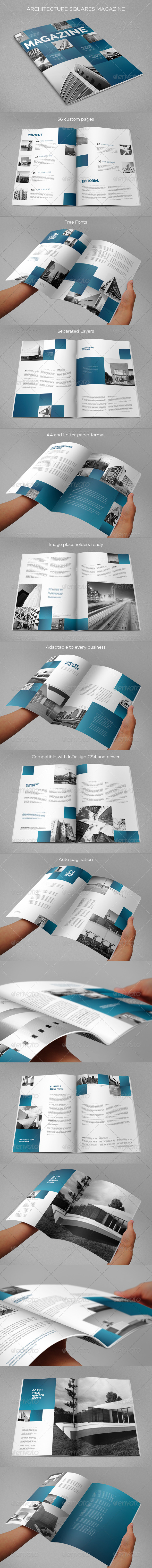 GraphicRiver Architecture Squares Magazine 8465426