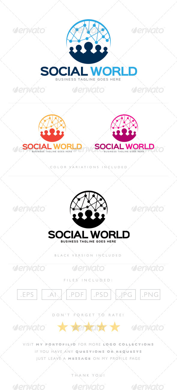 GraphicRiver Social World Logo 8465429