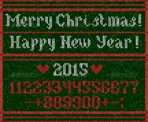 GraphicRiver Knitted Numbers 8465530