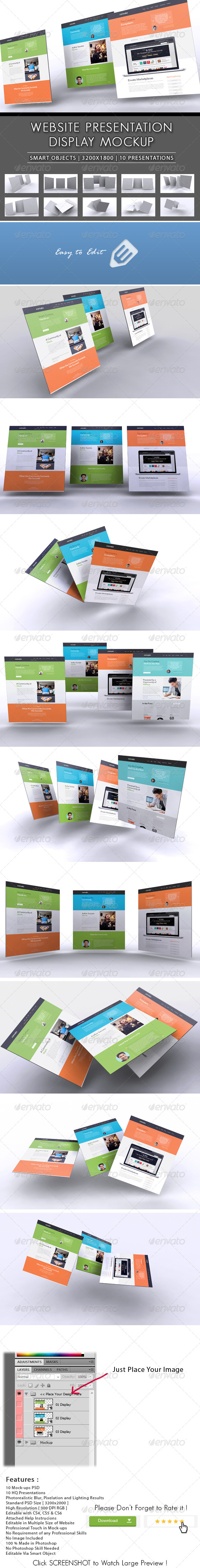 GraphicRiver 3D Website Presentation Mockup 8465536