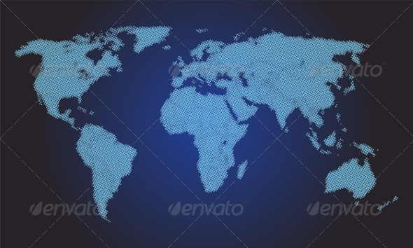 GraphicRiver Stylized World Map 8465664