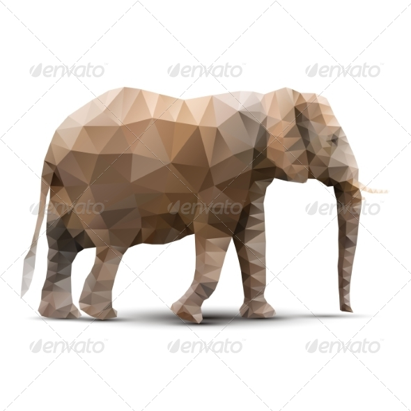 GraphicRiver Polygonal Elephant 8465675
