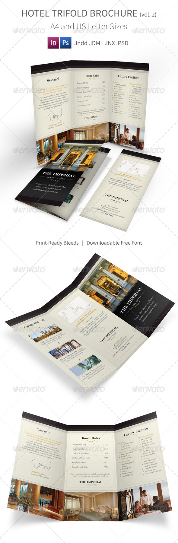 GraphicRiver Hotel Trifold Brochure 8465693