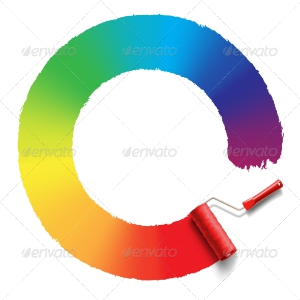 GraphicRiver Rainbow Roller Brush 8465697