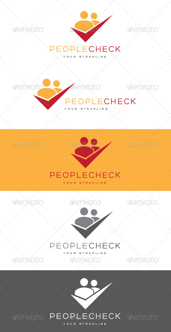 GraphicRiver People Check Logo 8465698