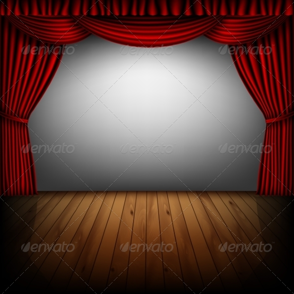 GraphicRiver Red Curtain and Cinema Screen 8465711