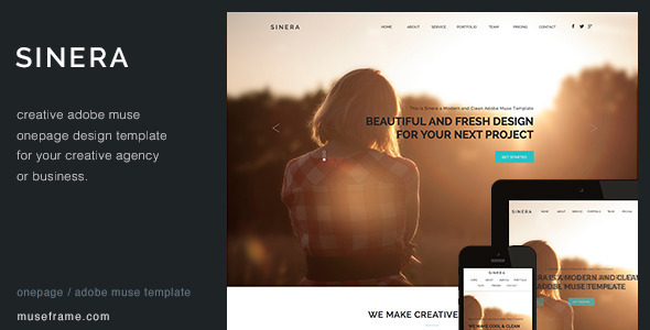 ThemeForest Sinera One Page Muse Template 8465746