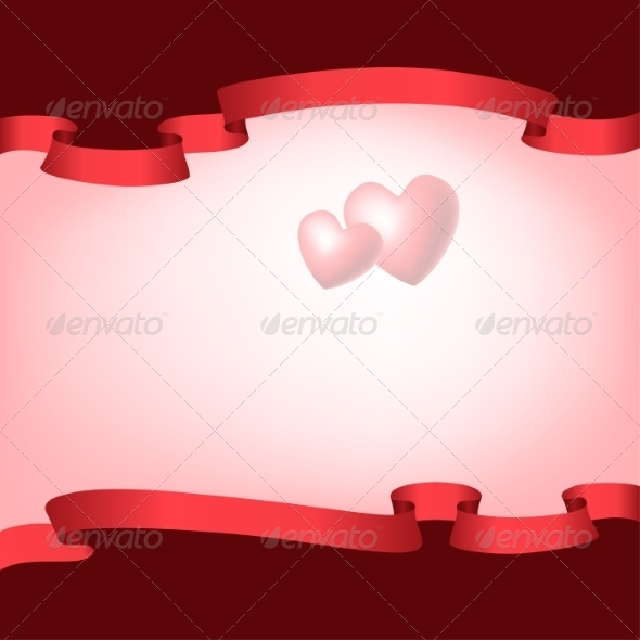 GraphicRiver Red Ribbons Frame 8465748