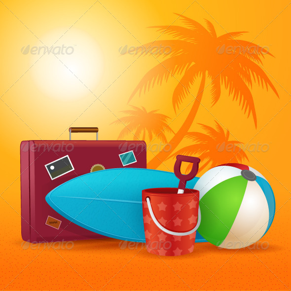 GraphicRiver Summer Travel Kit 8465764