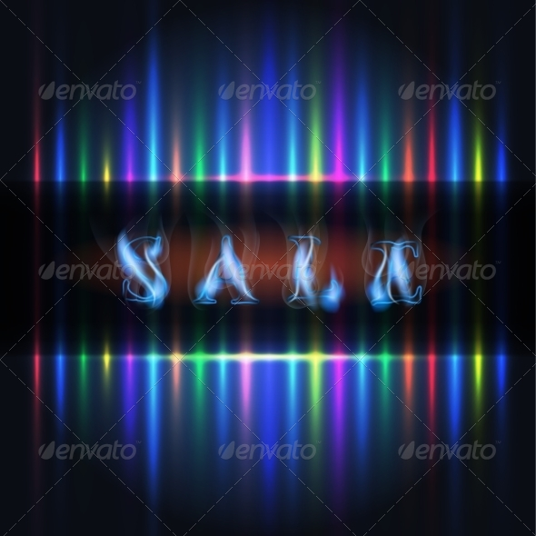 GraphicRiver Sale Color Light Lines 8465781