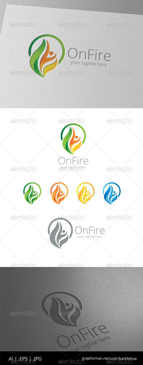 GraphicRiver People Fire Power Logo 8465782
