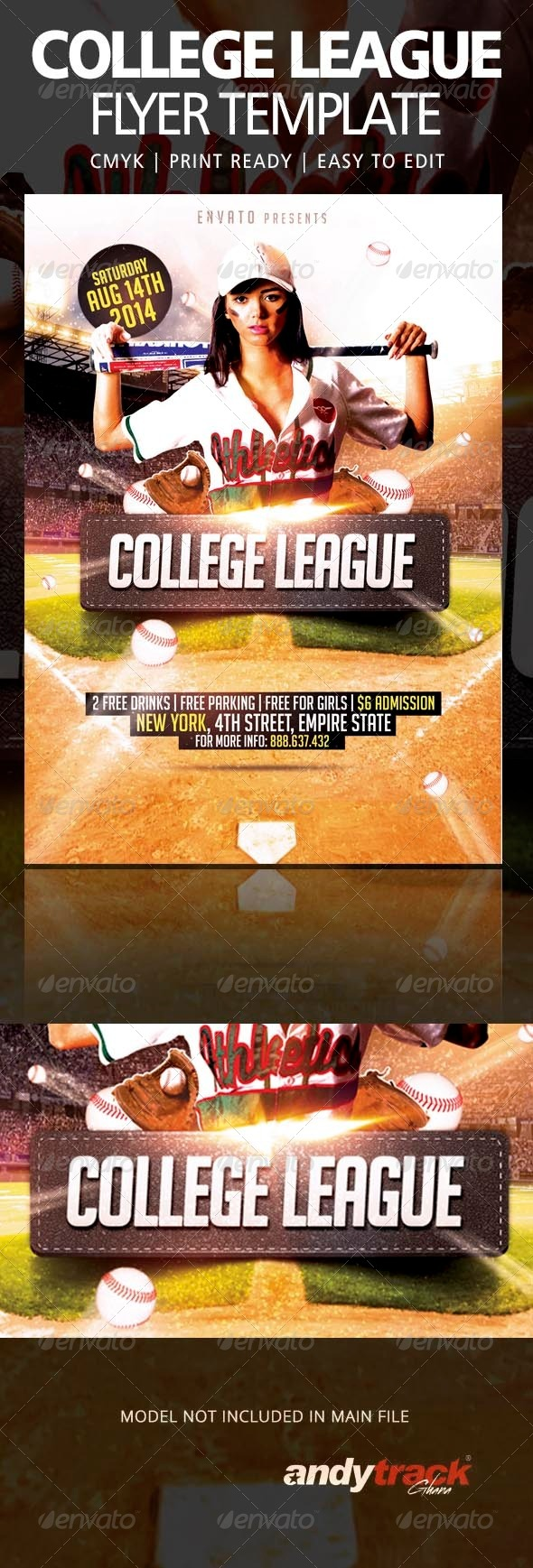 GraphicRiver College League Flyer Template 8465786