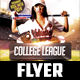 College League Flyer Template