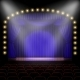 Stage with Blue Curtain - GraphicRiver Item for Sale
