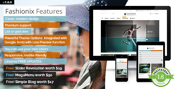 ThemeForest Fashionix Premium PrestaShop Theme & Blog 8295279