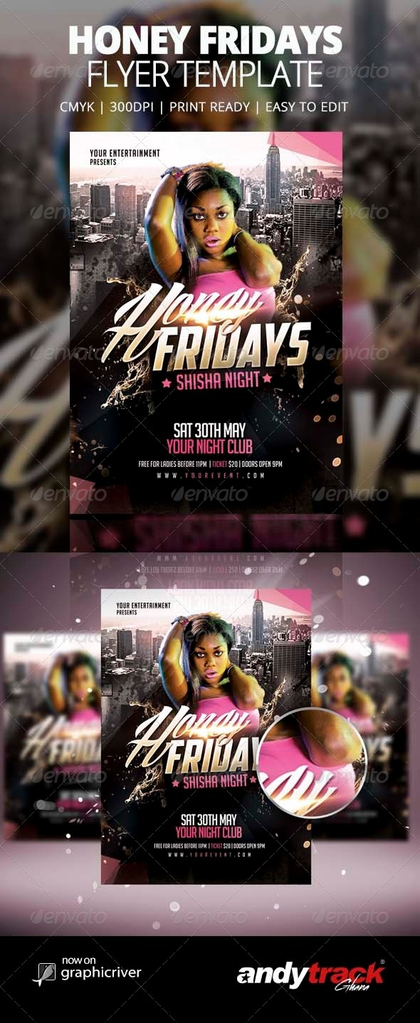 GraphicRiver Honey Fridays Flyer Template 8465920