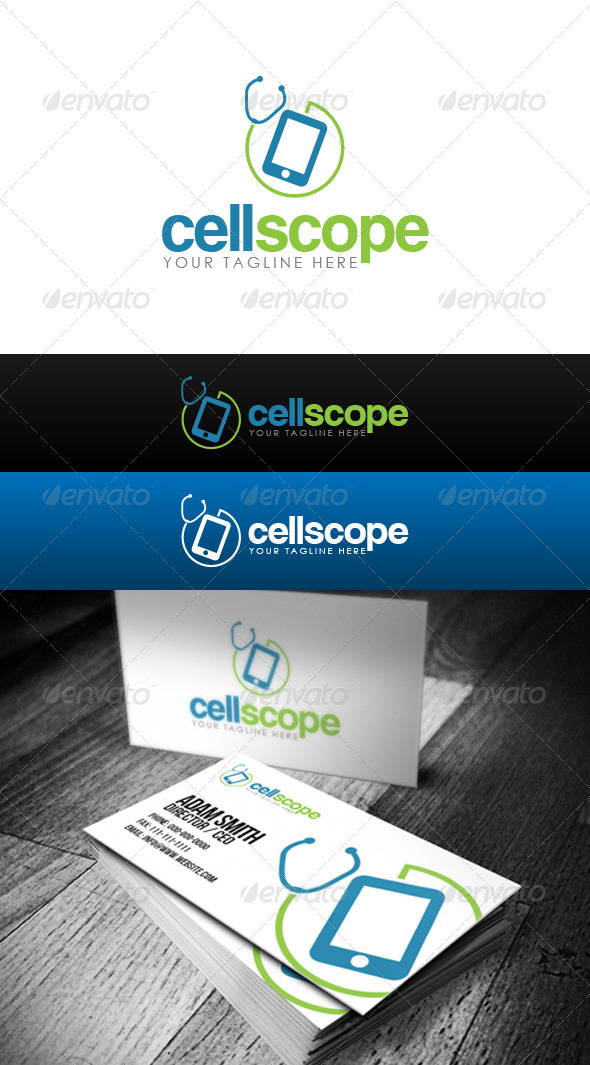 GraphicRiver Cell Scope Logo 8462577