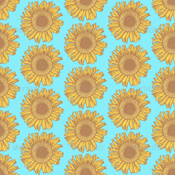GraphicRiver Sketch Sunflower 8422999