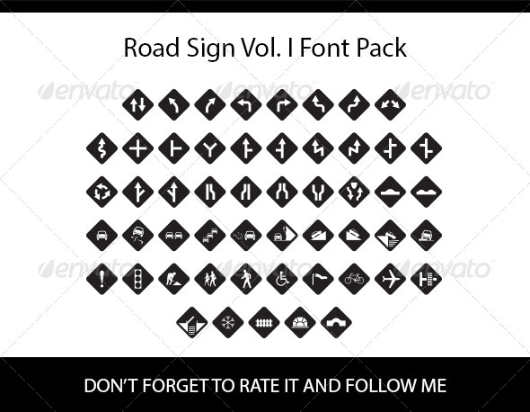 GraphicRiver Road Sign Vol I Font Pack 8466079