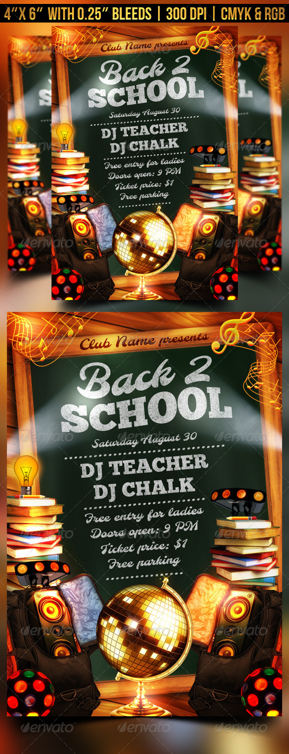 GraphicRiver Back to School Flyer Template 8466083