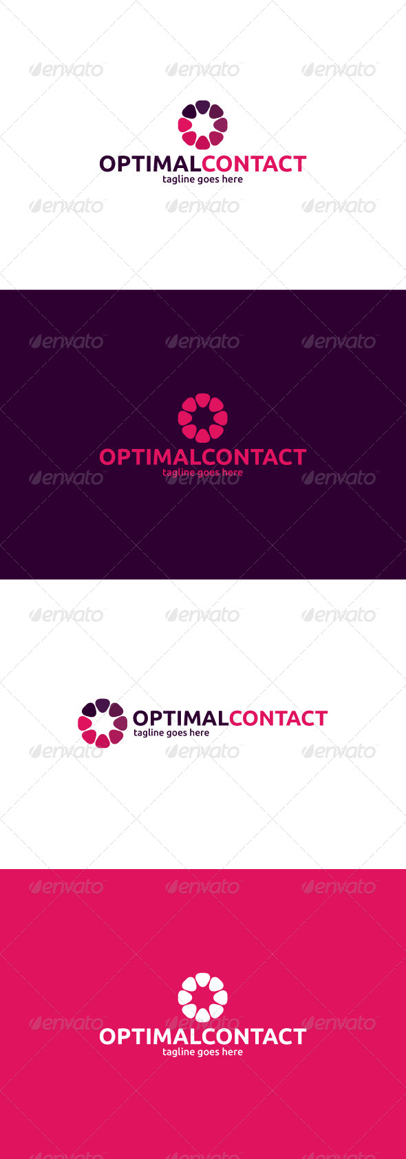 GraphicRiver Optimal Contact Logo Letter O 8466124