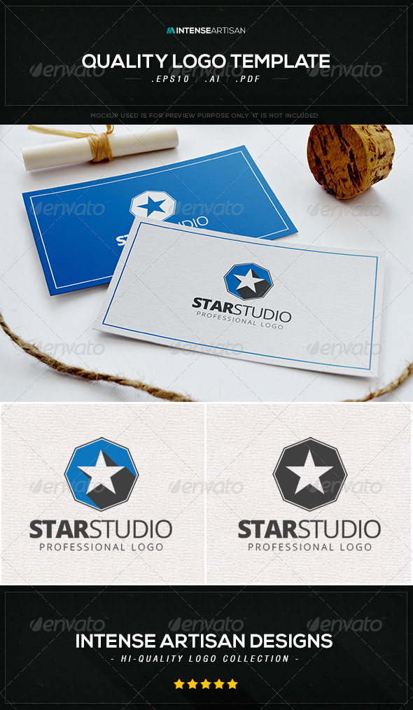 GraphicRiver Star Studio Logo Template 8466163